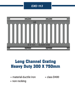 long channel grating Covers and frames